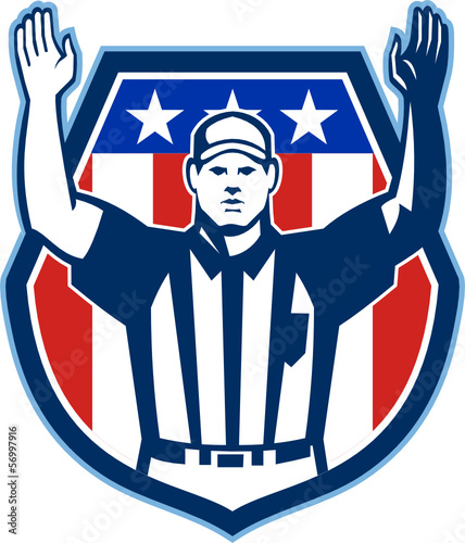 American Football Official Referee Touchdown