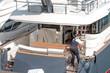 canvas print picture - yacht lavori di manutenzione