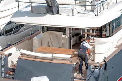 Spoed canvasdoek 2cm dik Water Motorsp. yacht lavori di manutenzione