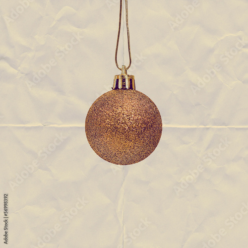 gold christmas bauble paper