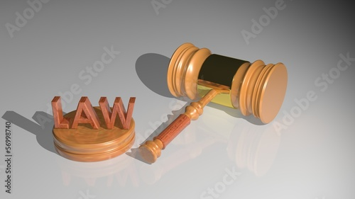 The hammer of the judge - Law