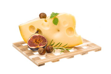 Maasdam cheese with fig
