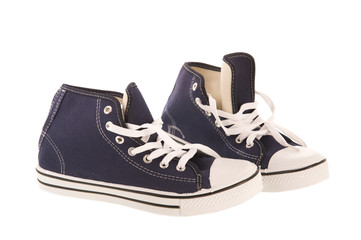 Dark blue basketball shoes