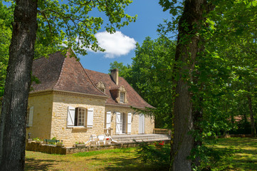 Typical house in French Dordogne