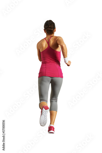 back view of running girl