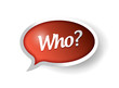 who message bubble illustration design