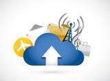cloud computing upload concept illustration