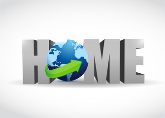 home globe illustration design