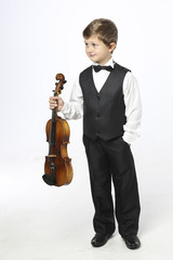Young boy with violin