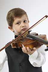 Learning to hold violin