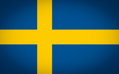 Flag of Sweden vignetted