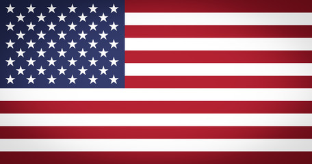 Flag of the USA vignetted