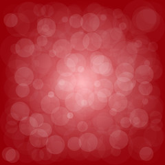Defocused red abstract christmas background