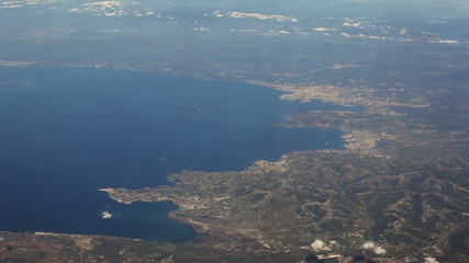 coastline around Koper in Slovenia and Trieste  Italy  aerial