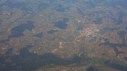 Slovenia countryside aerial