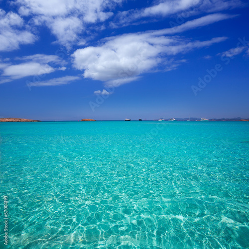 Illetes Illetas beach in Formentera Balearic Islands