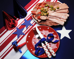 Houston texans (or July 4) party table team colors