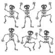 Grunge Dancing Skeletons