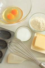 製菓材料と道具