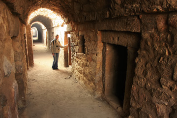 Underground tunnel, Tughlaqabad Fort, New Delhi