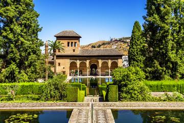 Partal Palace in La Alhambra in Granada, Spain