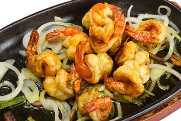 Marinated fried shrimp