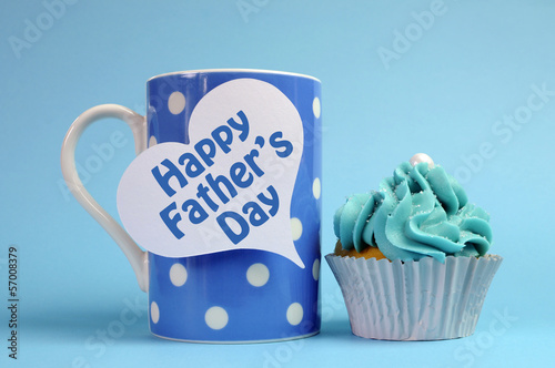 Happy Fathers Day coffee and cupcake