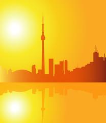 Toronto at Morning - vector