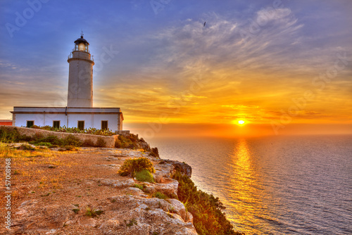 La Mola Cape Lighthouse Formentera at sunrise