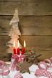Vier Adventskerzen - Weihnachtsdekoration im Landhausstil