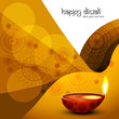 Diwali diya festival colorful design wave vector