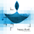 Diwali diya blue colorful vector illustration