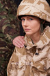 Female Soldier Being Comforted