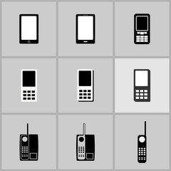 phones icon set