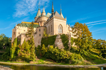 Bojnice Castle with a Moat