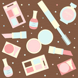 makeup seamless pattern