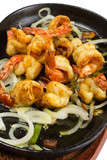 Marinated fried shrimp