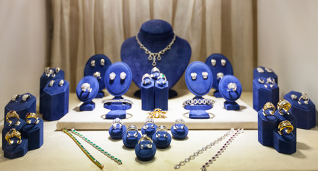 variety jewelry at showcase