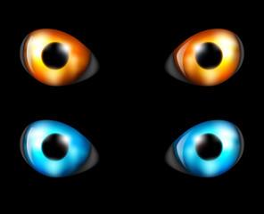 Eye set in the dark