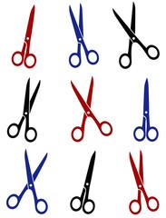 set of scissors icon