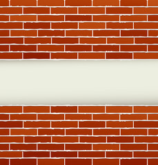 background with red brick wall
