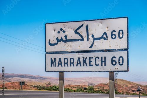 Marrakech sign
