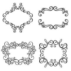 Vector Decorative Ornamental Frame for Text. Design element