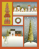 Vintage Christmas Poster Collage