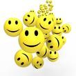 Smileys Show Happy Positive Faces