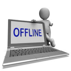 Offline Laptop Shows Web Communication Status Disconnected