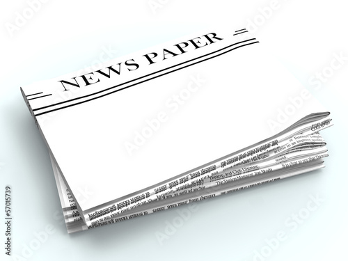 Blank Newspaper With Copyspace Shows News Media Headline Space