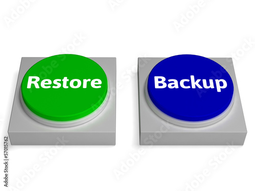 Backup And Restore Buttons Show Data Archiving