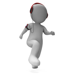 Runner Character Listen To Music Shows Music Listening Jogging