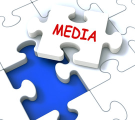 Media Jigsaw Shows News Multimedia Newspapers Radio Or Tv